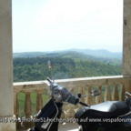 Altstadt von Civitella del Tronto - Italien - Vespa GTS 300